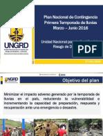 1. Plan Nacional de Contingencia Primera Temporada de Lluvias