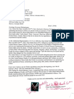 Heru's Declaration to the Governor of Colorado