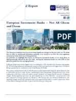European Investment Banks Not All Gloom and Doom