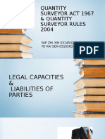 Quantity Surveyor Act 1967 & Quantity Surveyor Rules