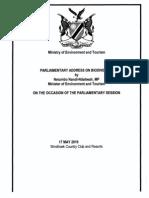 Parliamentary Address on Biodiversity by Netumbo Nandi-Ndaitwah