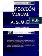 INSPECCIÓN VISUAL ASME