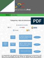 Categorias y tipos de direcciones IPv6