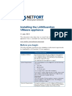 LANGuardian Install Vmware