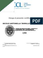 Otorga El Presente Certificado A