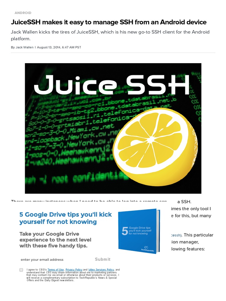JuiceSSH Makes It Easy to Manage SSH From an Android Device