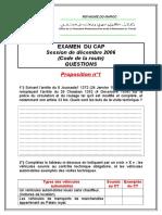 Examen de CAP (Réglementation)