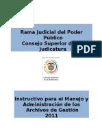 Manual Para La Adminstracion y Seguimiento de Archivos de Gestion