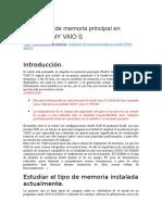 Ampliación de Memoria Principal en Portátil SONY VAIO S