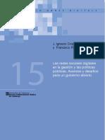Las Redes Sociales Digitales en La Gestión y Las Políticas Públicas