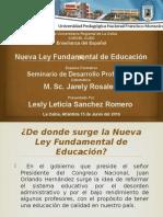 Diapositivas de La Nueva Ley Fundamental de Educacion