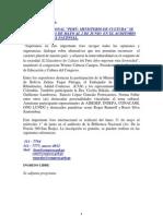 FORO INTERNACIONAL. PERÚ, MINISTERIO DE CULTURA