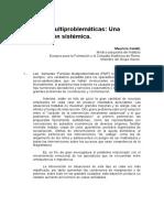 Familias Multiproblemáticas Una Contribución Sistémica.