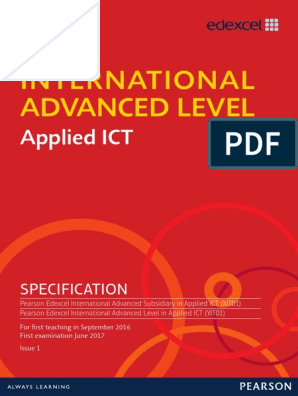IAL-Applied-ICT-Specification pdf | Educational Technology