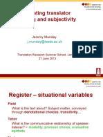 Munday Investigating Translator Positioning - Munday