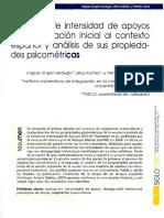 Escala de Intesidad de Apoyos Sis en España