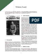 0 WW1 Ace - Wilhelm Frankl