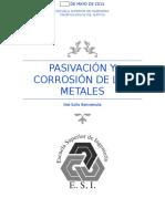Pasivacion y Corrosion de Metales