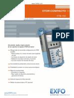 OTDR COMPACTO FTB-150. Www.exfo.Com Mediciones y Pruebas Para Telecomunicaciones. Www.cofitel.com