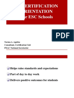 Certification for ESC Schools