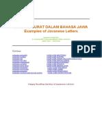 Contoh Surat Dalam Bahasa Jawa