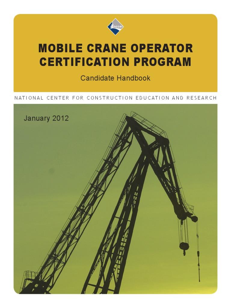 Mco Candidate Hb 2012 Professional Certification Crane Machine