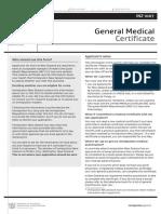 INZ 1007 _ General Medical Certificate(INZ 1007) March 2015