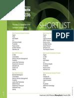 shortlist 2016