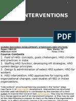 Unit IV, Hrd Intervention