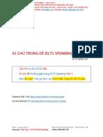 42 Chủ Đề Trong Speaking Part 1 - Mp3 Thầy Tùng Thu Âm