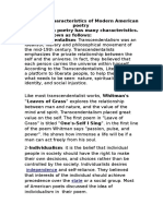 Characteristics of Poetry