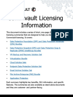 Commvault Licensing Information Summaries