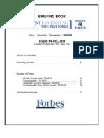 Louis Navellier Briefing Book