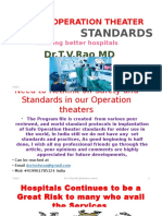 Surgical Operation Theater Standards
