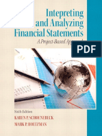 Interpreting and Analyzing Financial Statements Sixth Edition by Karen p Schoenebeck and Mark p Holtzman