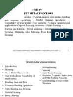 Manufacturing Technology Unit IV