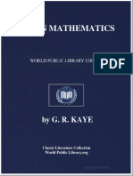 Indian Mathematic 00 Kaye Rich