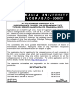 OU UG Notification201617