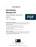 D Edexcel Mechanics-1 6677 Solomen Papers