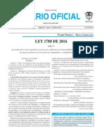 Diario oficial de Colombia n° 49.927. 7 de julio de 2016