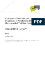 Evaluation of UNFPA's 8th Country Programme of Cooperation in Viet Nam