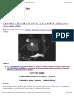 Canonul Cel Mare Al Sfantului Andrei Criteanul Text Audio Video Ps.ps