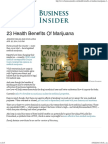 23 Health Benefits of Marijuana - Business Insider