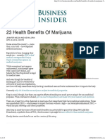 23 Health Benefits of Marijuana - Business Insider