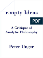 AnalyticPhilosophy Empty Ideas