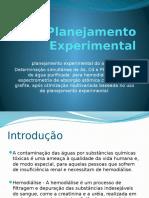 Apresentação Planejamento Experimental