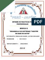 Informe de Practicas Modulo II