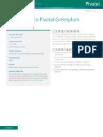 Pivotal EDU IntroductionToGreenplumDatabase Datasheet