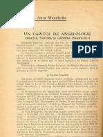 Anca Manolache - Un capitol de angelologie - creatia natura si caderea ingerilor