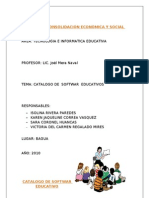 Catalogo de Softwar Educativo